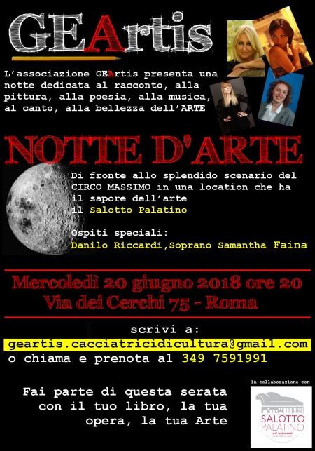 Notte d'Arte: mercoledì 20 giugno, esordio del team GEArtis nel centro storico di Roma